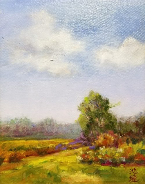 """Beautiful Field"" oil painting by Betty Huang"
