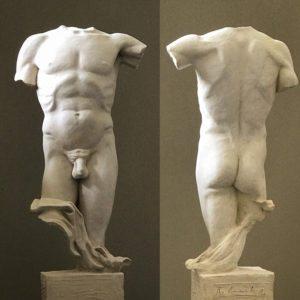 Male Torso sculpture by Rick Casali